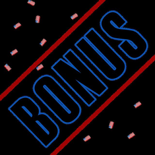 Bonus und Geld zurück